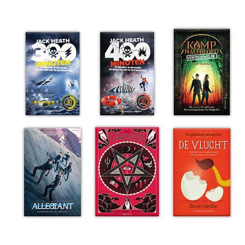 6-delig jeugdboekenpakket met thrillers